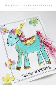 unicorn craft activity flower crown and free printables