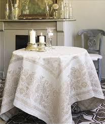 linen jacquard tablecloth berlioz provence