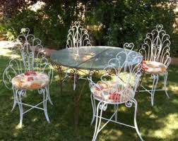 Rod Iron Patio Table And Chairs Salterini Laurel Leaf Wrought Iron Patio Set