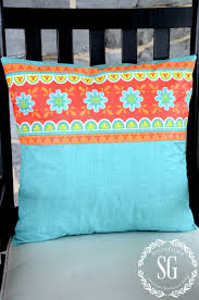 Recover Patio Cushions Sew Easy Outdoor Pillow From A Vinyl Tablecloth Stonegable