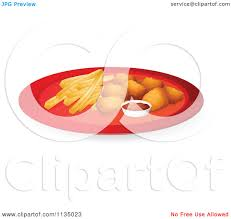 royalty free rf clipart of chicken nuggets illustrations