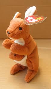 amazon com ty beanie babies pouch the kangaroo stuffed animal