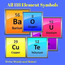 5th Element Periodic Table Combine These Periodic Table Element Symbol Stickers To Make Words