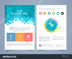 stock vector creative two page business flyer template or brochure