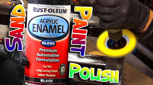 how to fix wet sand u0026 polish rust oleum spray paint youtube