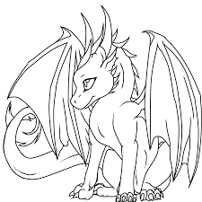 baby dragon coloring pages glum