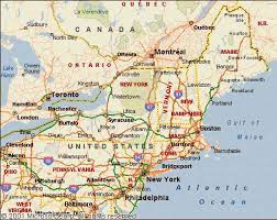 northeast map of us map of east coast usa map