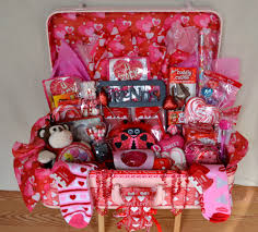 Halloween Gift Baskets For Adults by Valentine Gift Basket I Made Out Of A Vintage Suicase