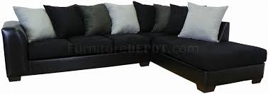 Upholstery Sectional Sofa Black Fabric Bicast Upholstery Modern Sectional Sofa