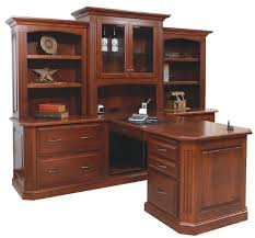Partner Desk With Hutch Solid Wood Amish Built Partner S Desk By Dutchcrafters Amish Furniture