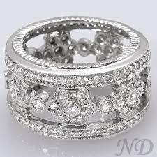 unique fashion rings images 2 05 ct unique floral design round cut diamond eternity band jpg