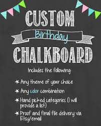 birthday board custom birthday chalkboard custom birthday chalkboard custom