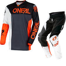 black motocross gear oneal mayhem lite 2018 split motocross jersey u0026 pants black orange