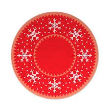 snowflakes tree mat