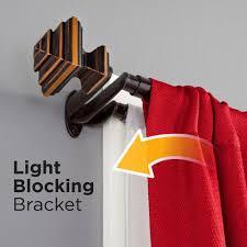 Amazing Double Curtain Rod Design by Room Darkening Curtain Rod Curtains Ideas