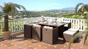 rattan garden furniture cube dining set for outdoors patio seats