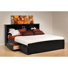 Platform King Bed With Storage Prepac Brisbane King Platform Storage Bed With Storage Headboard