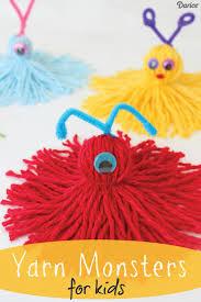 the 25 best yarn monsters ideas on pinterest valentine crafts