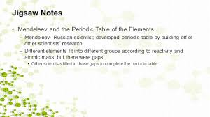 activity 16 elements and the periodic table warm up what are the