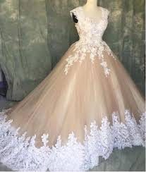 ivory wedding dress a line ivory lace cap sleeves tulle chagne wedding dresses 2018