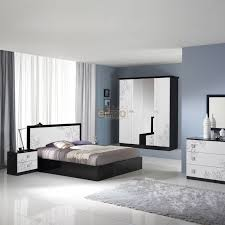 meuble de chambre design chambre adulte lit tête de lit chevet commode armoire miroir