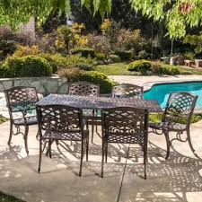 Aluminum Patio Tables Cast Aluminum Patio Furniture Wayfair