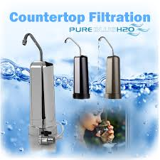 pure blue h2o red light filtered countertop faucet in bronze pure blue h2o