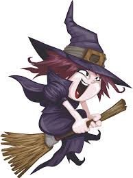 witch riding broom clipart clipartxtras