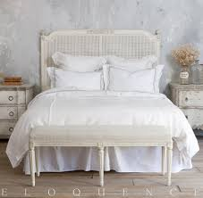 eloquence blanka cane king headboard in antique white kathy kuo