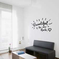 beautiful wall decals wall art design cool design beautiful wall decals beautiful is the new black wall quote decal 1