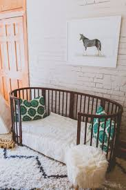 Rug For Nursery Nursery With Brown Crib And Shag Rug Cute Nursery Decorating
