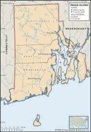Massachusetts State Map by State And County Maps Of Rhode Island
