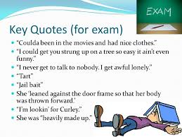 Curley S Quotes Curley S Key Words Phrases Exam Technique Vindictive