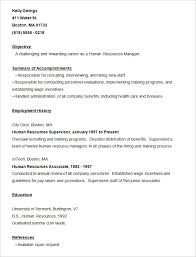 Human Resource Manager Resume Sample by Resume Templates U2013 127 Free Samples Examples U0026 Format Download