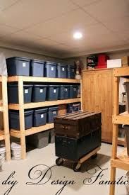 Basement Storage Shelves Woodworking Plans by Build Shelves In Garage For Seasonal Totes Much Easier To Access