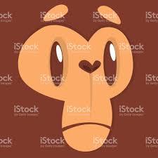 imagenes de amor triste animadas expresión de la cara de mono triste de dibujos animados ilustración