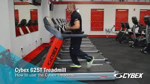 cybex 625t treadmill how to use youtube