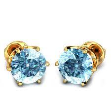 aquamarine earrings aquamarine yellow gold 18k dangal aquamarine earrings