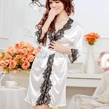 robe de chambre femme satin de chambre femme satin blanc