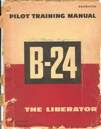 reprint wwii pilot training manual b 24 liberator 1944 military