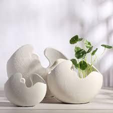 vase home decor modern broken egg design ceramic vase tabletop flower vase home