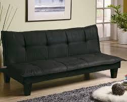 black convertible sofa furniture casual padded convertible sofa bed in black co300238
