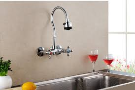 kitchen wall faucet bathroom kitchen faucet cold mixed taps stretchable shower