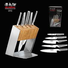 katana kitchen knives genuine global katana 6pc knife block set made in japan rrp 779