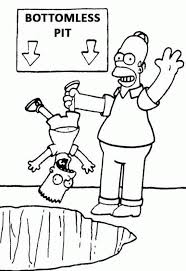 coloring page simpsons coloring pages 19763 bestofcoloring com
