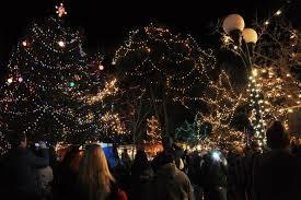 lighting of decorations on santa fe plaza santa fe
