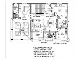 first floor in spanish spanish villa house plans luxamcc org