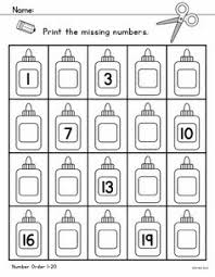 fall counting activity sheet up to 20 objects math for