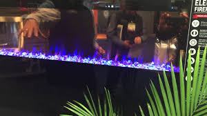 fireplaces that change color with light and glass crystals youtube