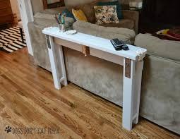 Diy Sofa Table Diy Sofa Table From 2x4s